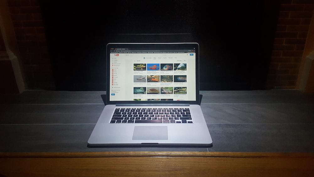 Computer with YouTube.com/AquariumKids