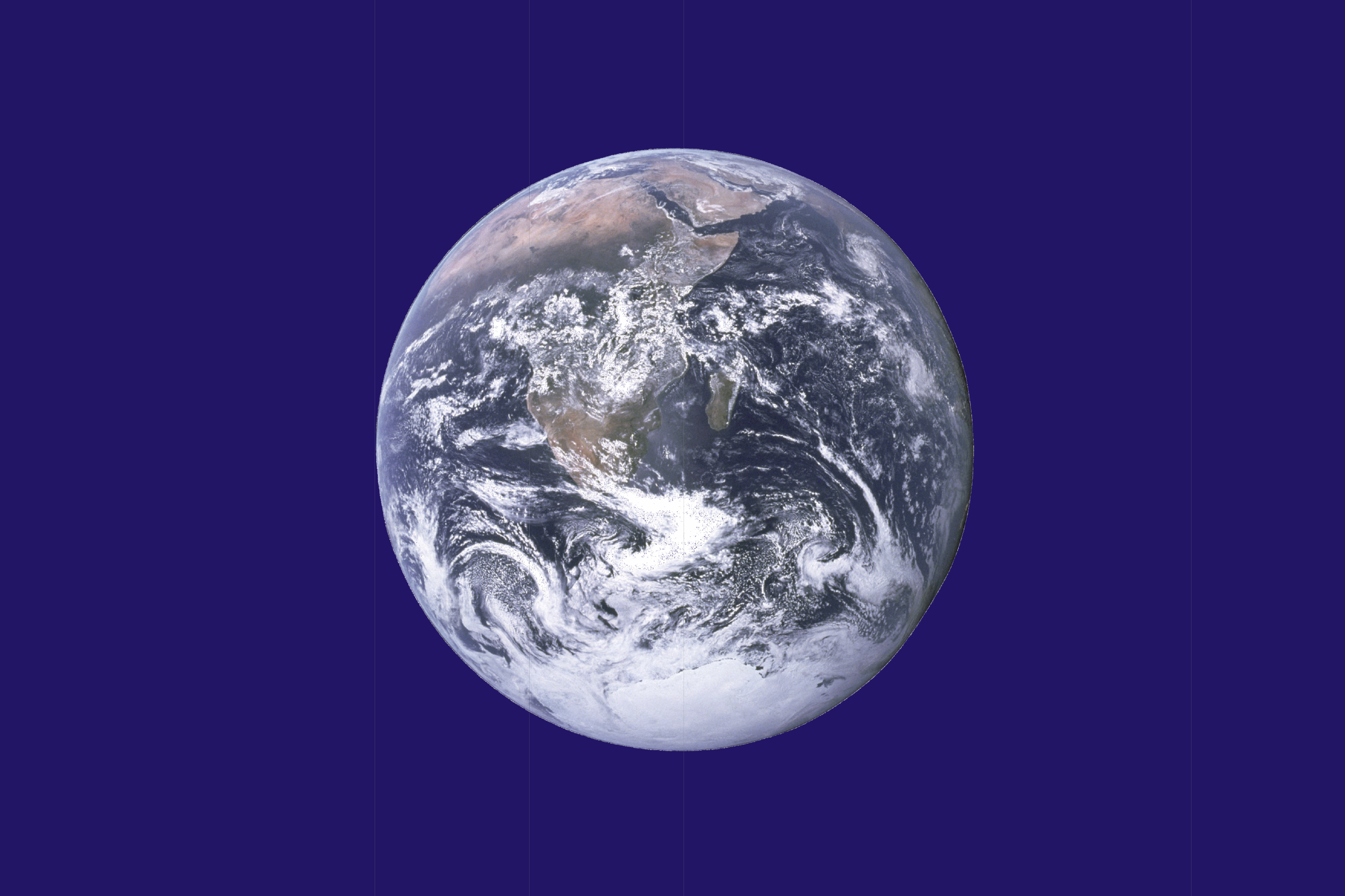 Earth Day Flag by John McConnell, NASA, and SiBr4 (Public Domain)