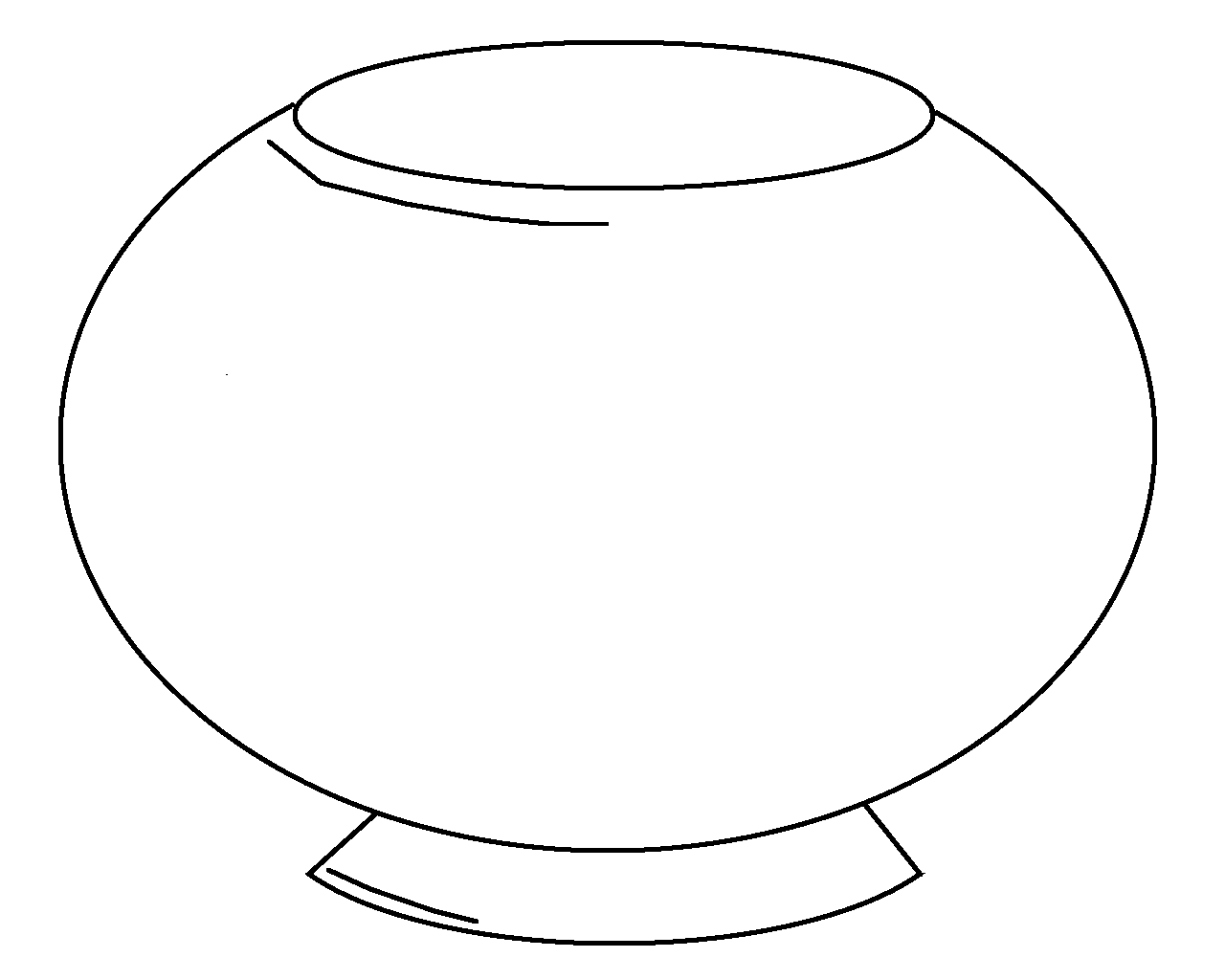 Fishbowl Coloring Page